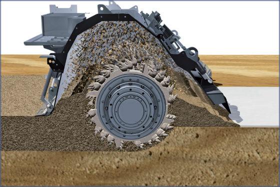 implemento para bobcat rotor estabilización de suelos escarificador para estabilizacion de suelos. suelo cemento