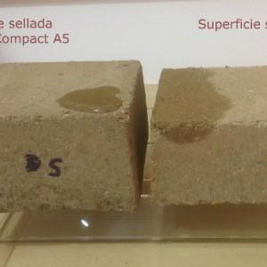 sellado con geocompact A5 estabilización de suelos. suelo cemento