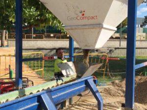 Resina fijador de grava GeoCompact - Control de polvo - Estabilización de suelos